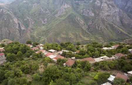 tatev: Mountain landscape. The landscape in Armenia Tatev. A small village in the mountains. Stock Photo