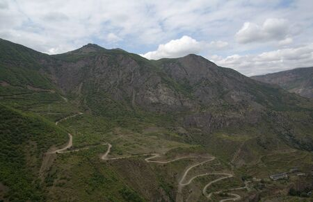 tatev: Mountain landscape. The landscape in Armenia Tatev. Winding road in the mountains.