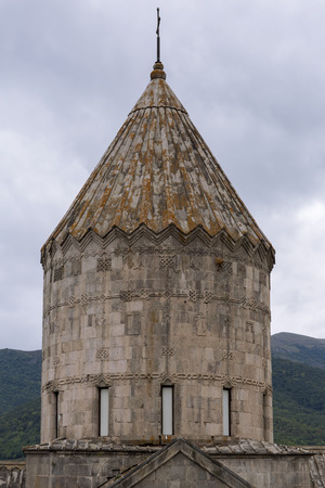 tatev: Armenian Apostolic Church. Mountain landscape, the monastery. The landscape in Armenia Tatev.
