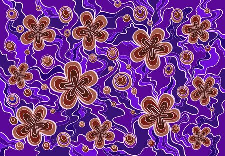 burgundy background: Vector floral hand drawn background pattern. Purple and burgundy background. Illustration