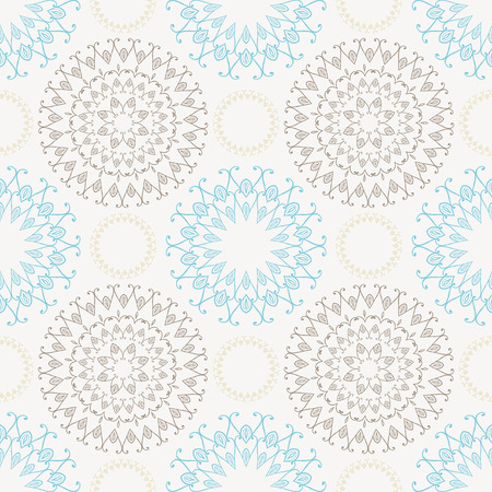 pale yellow: Seamless pattern with ornamental decorative elements. Vector. In black and pale yellow colors.