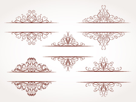 ornamental frames: Vector set of hand drawn ornamental frames.