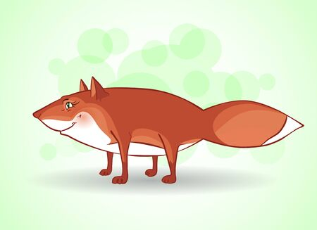friendliness: Vector illustration of cartoon funny fox.