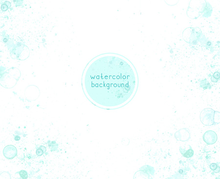Abstract soft watercolor with bubble on white background. Green color. Stock Photo