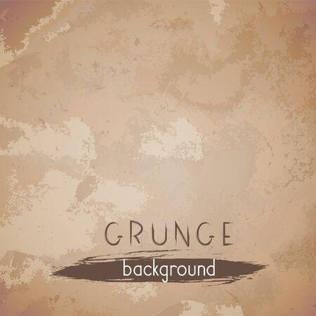 Vector vintage background. Grunge texture of old paper. Illustration
