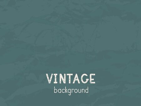 Vector vintage background. Grunge texture of old paper. Green.