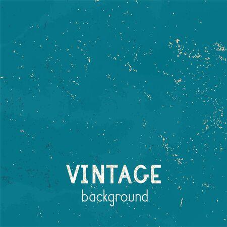 Vector vintage background. Grunge texture of old paper. Blue color.