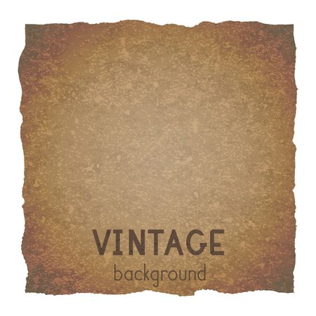 Vector vintage background with torn edges. Grunge texture of old paper. Imagens - 149808111