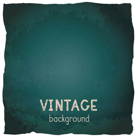 Vector vintage background with torn edges. Grunge texture of old paper. Green. Ilustracja