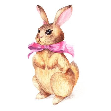 pink bow: Vintage Rabbit pink bow