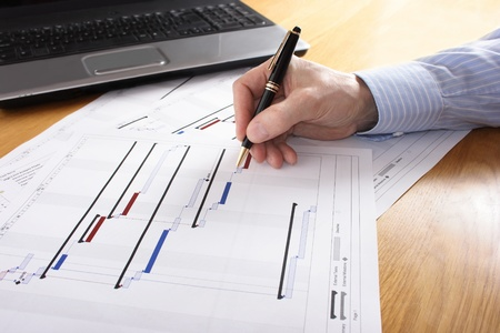business project: Project Planning Stock Photo