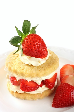 to tempt: Strawberry and cream shortcake
