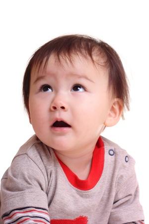 Happy oriental toddler