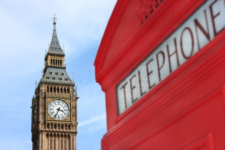 phonebox: Iconic London features with selective focus on background Editorial