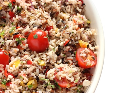 wild rice: Wild rice and cherry tomato salad