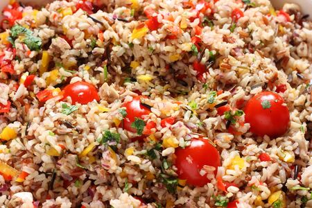 Wild rice and tomato salad