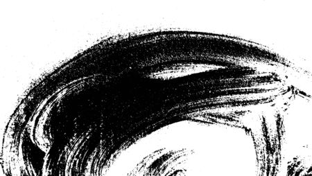 Vector brush sroke texture. Distressed uneven grunge background. Abstract distressed vector illustration. Overlay over any design to create interesting effect and depth. Black isolated on white.
