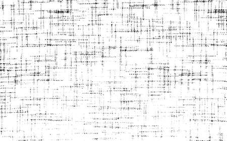 Distressed fabric texture. Vector texture of weaving fabric. Grunge background. Abstract halftone vector illustration. Overlay for interesting effect and depth. Black isolated on white background.