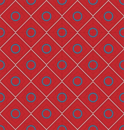 Red and blue seamless mosaic pattern