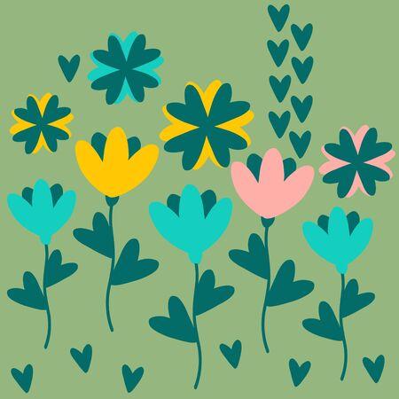 Flower set illustration