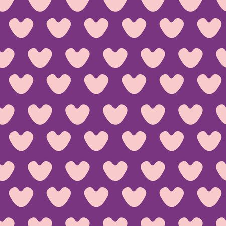 Pink hearts seamless pattern Illustration