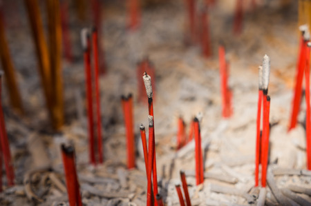 street creed: Burning Incense in Chinese Temple