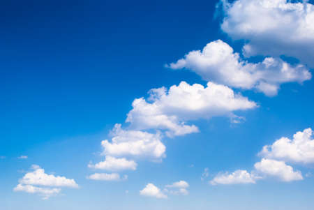 bluer: Summer bluer sky with beautiful clouds