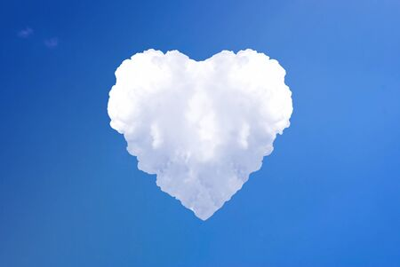 Big love heart from the cloud in the sky photo