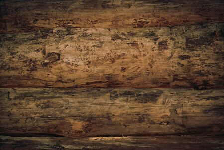 untreated: Dark horizontal surface of untreated wood. top view Stock Photo