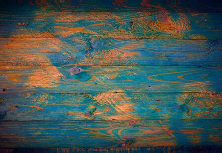 copyspase: Old colored wooden surface. For background with copyspase