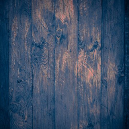 Old indigo wooden surface. Empty space for your ideas photo