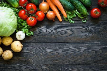 Organic food - fresh vegetables. Useful and healthy eating 写真素材