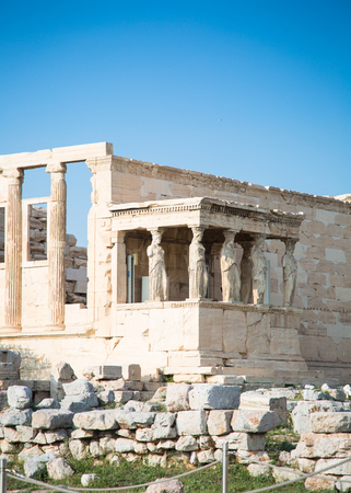 Erechtheion with Porch of the Caryatids Acropolis Athens, Greece. Ancient Architecture.
