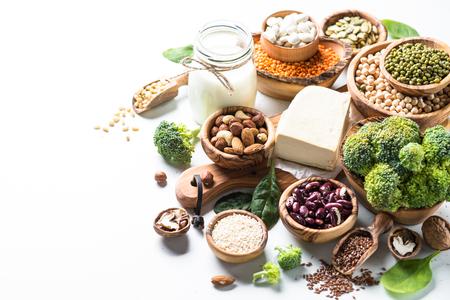 Veganistische eiwitbron. Stockfoto