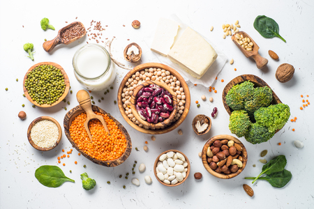 채식 단백질 공급원. 스톡 콘텐츠