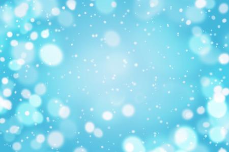 Hellblauer abstrakter Hintergrund mit fliegenden Schnee . Leer für Ihr Design