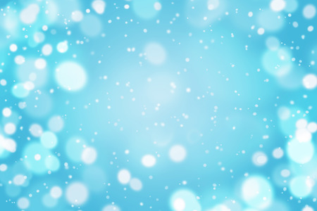 Light blue abstract background with fly snow. Empty for your design