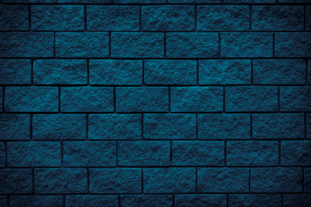 Navy brick stone texture background. Free space for design. Navy wall background.