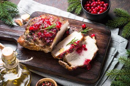 Baked pork meat Banque d'images