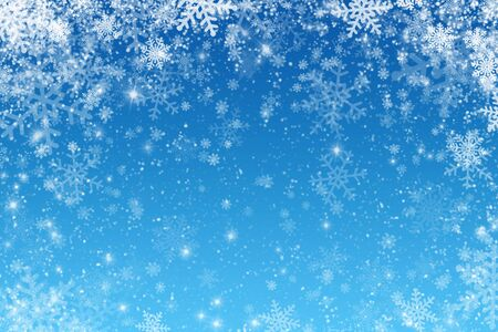 Christmas art abstract background on blue. Imagens
