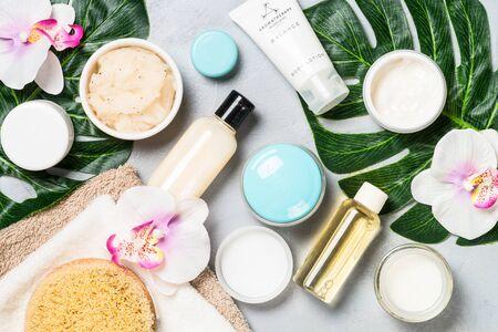 Cosmetici naturali, prodotti per il benessere e la spa.