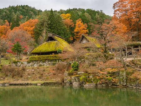 Old traditional village Hida no sato in the autumn. 写真素材