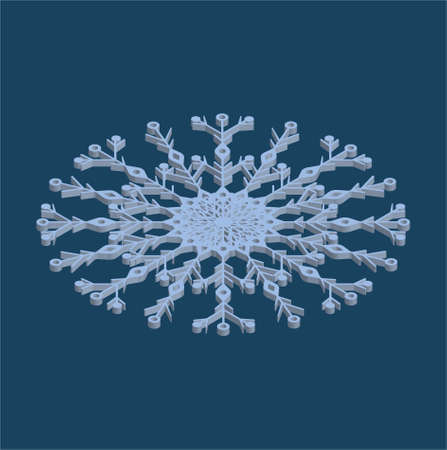 3d isolated snow for Christmas design poster