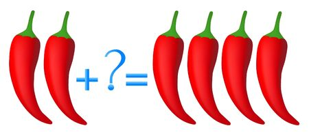 Action relationship of addition, examples with chili pepper.