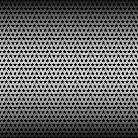 Perforated metal texture seamless pattern with stars. Vektoros illusztráció
