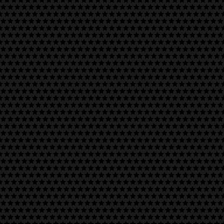 Dark background. Seamless texture perforated metal surface with stars.