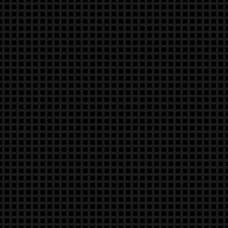 Dark background. Seamless texture perforated metal surface with square holes.