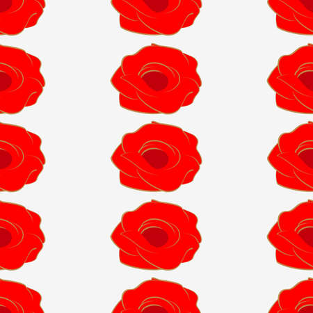 Seamless pattern of red roses.