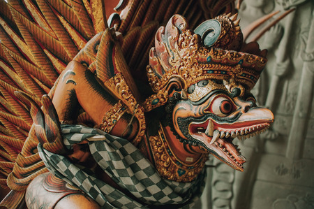 garuda: Garuda statue - winged deity in Indonesia like the bird