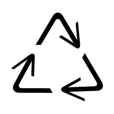 recycling symbol of ecologically pure funds, set of arrows Ilustração